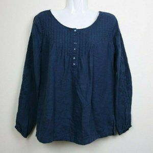 Tommy Bahama Womens Blouse Long Sleeve Buttons